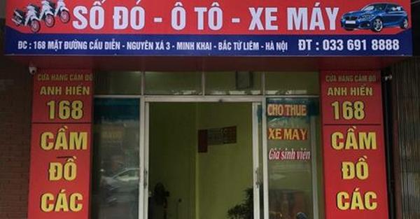cầm xe máy không chính chủ ở Hà Nội